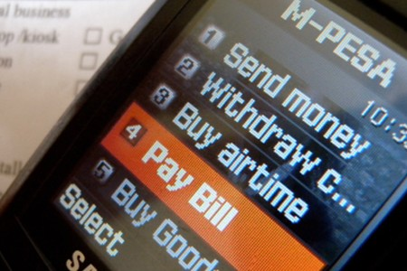 M-Pesa Mobile Payments Screen