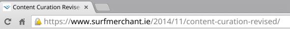 Insecure HTTPS website URL