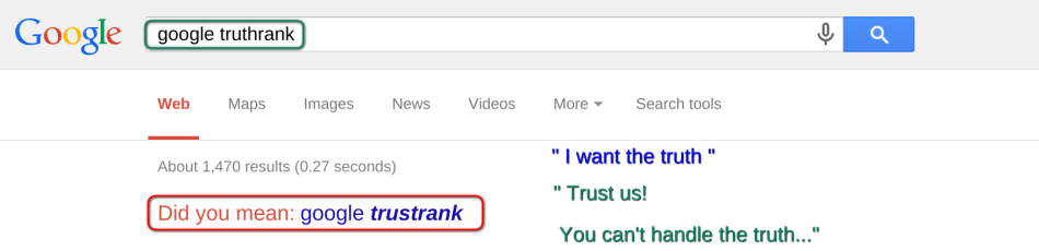 Trust Google for the Truth