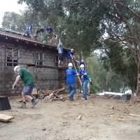 Volunteers-labour-on-site-school-project