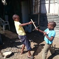 township-children-play-fighting