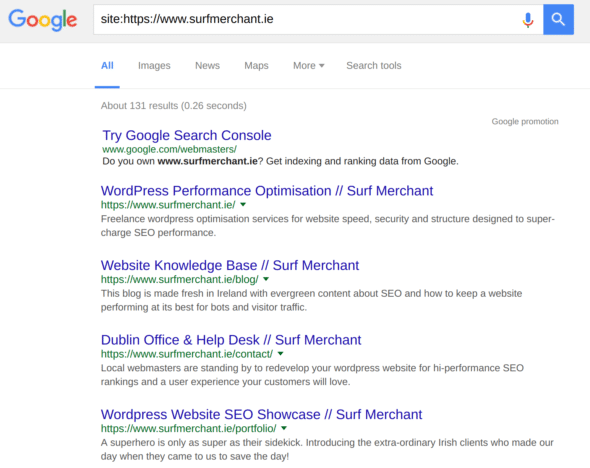 website meta titles and meta descriptions in google