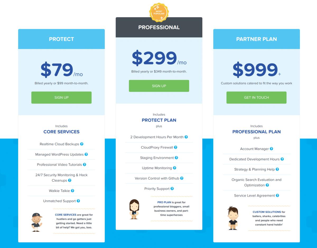 WP SiteCare WordPress Packages